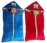 #10: My NewBorn Baby's Velvet Blanket cum Sleeping Bag With Zipper - Combo of 2