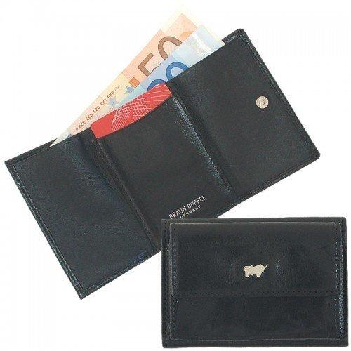 Preisvergleich Produktbild Braun Büffel Miniportemonnaie 31007-004,  Farbe:schwarz