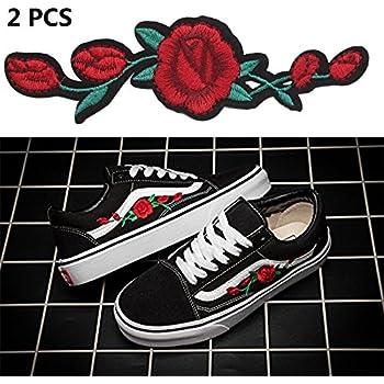 vans old skool roses brodées