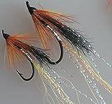 Lachs Fliegen Allys Cascade Singles Größen 6-12PACK von acht UK Qualität gebunden Fliegen Pack # 182