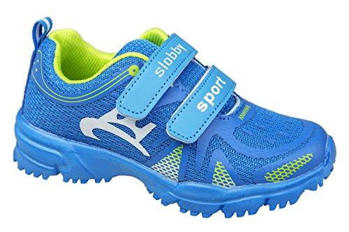 GIBRA® Kinder Sportschuhe, mit Klettverschluss, blau, Gr. 28-35 Blau