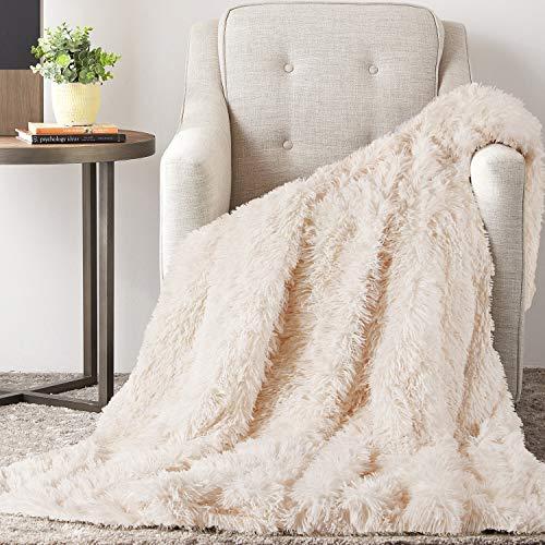 TAOCOCO Kuscheldecke Felldecke Wohndecke Microfaser Mikrofaserdecke Fleecedecke Sofadecke Tages Klimaanlage Decke Leicht für Couch Bett (Beige, 130 x 160 cm)