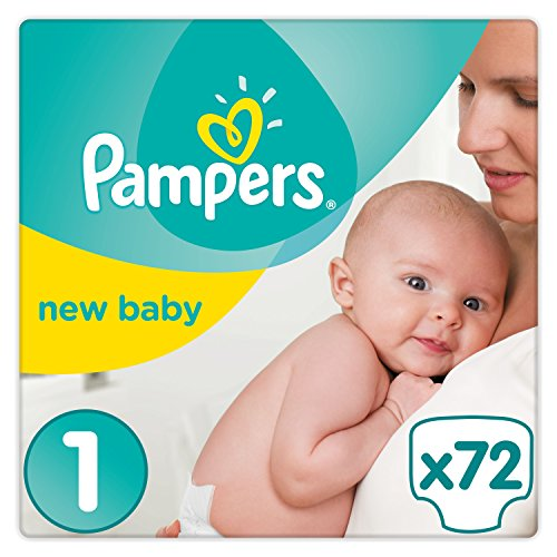 Pampers Premium Protection New Baby Gr. 1 (Newborn), 2 - 5 kg Halbmonatsbox, 72 Windeln