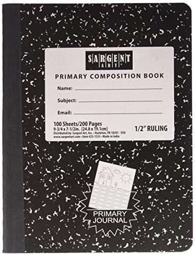 Sargent Art 100-sheet Primary liniert Zusammensetzung Buch -