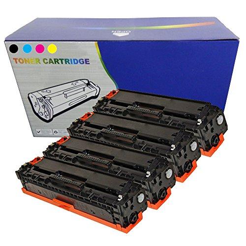 Juego de 126 A non-original de cartuchos de HP Color LaserJet CP1025, CP1025NW, M175A, 100, 175 A, M275, M275NW - CE310-3/126 A non-OEM de repuesto Compatible con