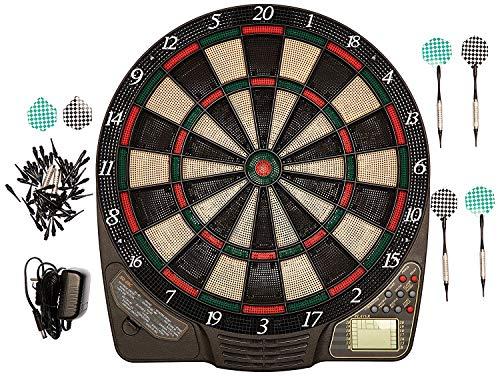 Best Sporting elektronische Dartscheibe mit 6 Dartpfeilen, Ersatzspitzen und Netzteil