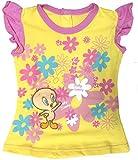 T-shirt Jersey girl Looney Tunes-3 mesi-giallo