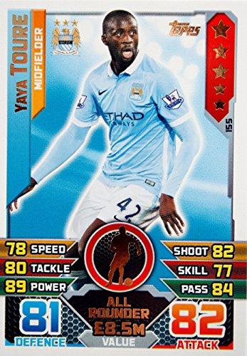 Match Attax 2015/2016> Manchester City YAYA von Touré > Anzahl 155 Manchester City Yaya Toure