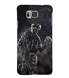 PrintVisa Indian Army Force 3D Hard Polycarbonate Designer Back Case Cover for Samsung Galaxy Alpha :: Samsung Galaxy Alpha S801 :: Samsung Galaxy Alpha G850F G850T G850M G850FQ G850Y G850A G850W G8508S :: Samsung Galaxy Alfa