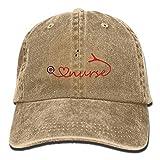 YYERINX Love Nurse Stethoscope Denim Hat Adjustable Women Low Baseball Caps