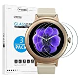 [3 Pack] LG Watch Style Screen Protector - OMOTON Tempered Glass Screen Protector for LG Watch Style Smart Watch 2017 with [Scratch Resistant][Crystal Clear][Bubble-Free]