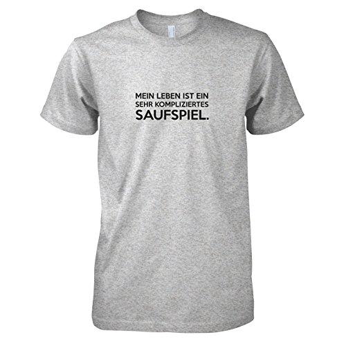 TEXLAB - Mein Leben - Herren T-Shirt Graumeliert