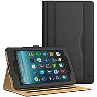 ATiC Amazon Fire 7 2017 Funda - Ultra Slim Función de Soporte Smart Cover Case Plegable para All-New Fire 7 Tablet, Auto Sueño/Estela con Ranuras del Documento para Tarjetas, Negro