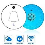 SAFETYON WLAN Türklingel Kamera Funk, Wifi Türklingel Kabellos mit 2 Megapixel/ 90 Grad Überwachung/ für Handy Smartphone, IOS und Androd