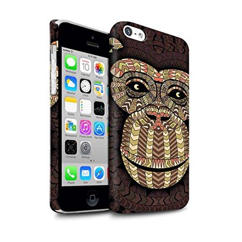STUFF4 Matte Snap-On Hülle / Case für Apple iPhone 7 Plus / Elefant-Farbe Muster / Aztec Tier Muster Kollektion Affe-Sepia
