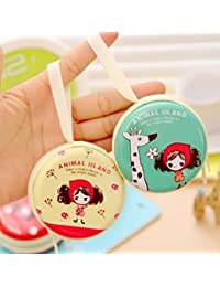 MOCA (Pack of 3) Cute Metal Tin Case Pouch For Earphone Pouch Case Bag Coins Memory Card Pouch Pendrive Bag Pouch box Case Jewllery Box Pouch Bag Case Wallet Pouch Mini Purse Accessories kit pouch box organizer gift for womens girls ladies gifts for womens girls Organisers.Animal island
