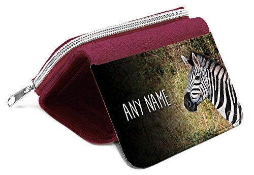 Red borsa Zebra personalizzata-regalo con nome ragazze figlia Kids monete # 47