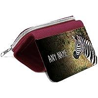 Red borsa Zebra personalizzata–regalo con nome ragazze figlia Kids monete # 47