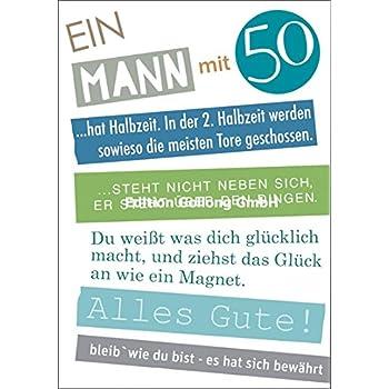 Gluckwunschkarte Zum 50 Geburtstag Augenkuss Amazon De