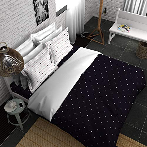 Boutique Living India Black, White - 300TC King Size Cotton Printed with 2 Pillow Covers Bedsheet Set-(274cm x 274cm) Less is More - Buy Online Bedsheet