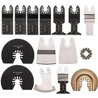 Cuchilla de Corte Afilada Kit de herramientas oscilantes de accesorios de herramientas múltiples oscilantes de 15 piezas for Rockwell Sonicrafter Worx Hoja de Sierra