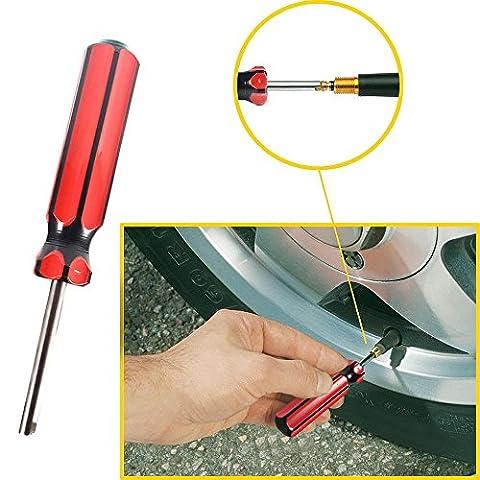 Keebgyy 3pcs de voiture camion Pneu de vélo Valve Stem Core Remover Outil de tournevis réparation de pneus installer