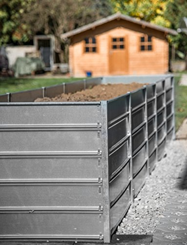myowngreen Hochbeet aus Metall 84 x 84 x 74 cm (B x L x H) – sehr solide und stabile Konstruktion nachträglich verlängerbar, schneller Aufbau, feuerverzinkte Metallprofile – für die leichte und