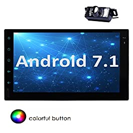 Android 7.1 Octa Core 2 GB + 32 GB 7 Pollici Radio autoradio Doppio 2 DIN in Dash Unitš€ Principale Supporto di Navigazione GPS RDS Autoradio USB SD Subwoofer 3G 4G WiFi OBD2 + Camera Libera Inclusa!