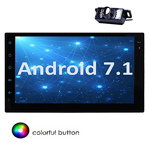 Android 7.1 Octa-Core 2GB + 32GB 7-Zoll-Autoradio-Stereo Double 2 Din im Schlag Head Unit Unterst¨¹tzungs-GPS-Navigation RDS-Autoradio USB SD Subwoofer 3G 4G WIFI OBD2 + Free Kamera eingeschlossen! (Auto Eingeschlossen Subwoofer)