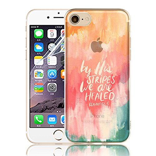 Ultra Sottile Custodia per iPhone 7 Plus iPhone 7 Plus, Cover per iPhone 7 Plus, Sunroyal Creativa Wave Cover Morbido Flessibile TPU Silicone Gel Protettivo Skin Caso Custodia Protettiva Shell Case Co Model 31