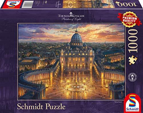 Schmidt Spiele Puzzle 59628 Thomas Kinkade, Vatikan, 1000 Teile Puzzle, bunt