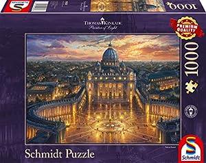 Schmidt Spiele 59628 Thomas Kinkade - Puzzle (1000 Piezas), diseño de Vaticano