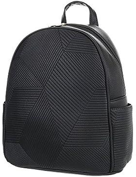 iTal-dEsiGn Damentasche Mittelgroße Rucksack In Used Optik Kunstleder TA-M1097