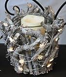 20er Micro LED Lichterkette Schneeflocken warmweiß