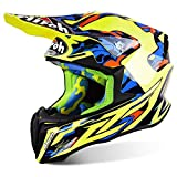 Enduro, casco da moto cross Airoh Twist, di colore giallo lucido, TC16