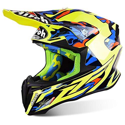 Enduro, casco da moto cross Airoh Twist, di colore giallo lucido, TC16
