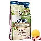 HAPPY DOG Natur Croq Welpen HDNW +BALL Gratis Futter Für Welpen aller Rassen ab der 4. Woche (15 kg)