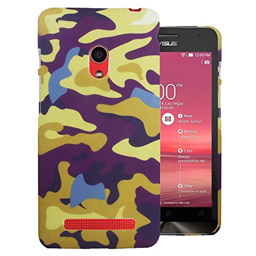 Heartly Army Style Retro Color Armor Hybrid Hard Bumper Back Case Cover For Asus Zenfone 5 A501CG - Yellow Field  available at amazon for Rs.249