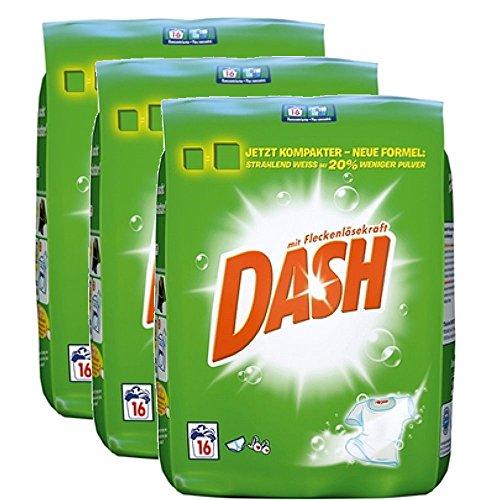Dash Regular Vollwaschmittel 3er Sparpack 3x1,04kg (3x16WL)
