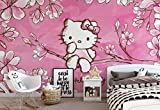 Wallsticker Warehouse Hello Kitty Fototapete - Tapete - Fotomural - Mural Wandbild - (454WM) - XL - 208cm x 146cm - VLIES (EasyInstall) - 2 Pieces