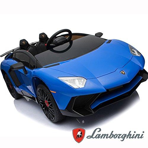 BC BABY COCHES BC Babycoches-Coche electrico 12 V para niños Lamborghini AVENTATOR, monoplaza, mando parental, puertas verticales, asiento polipiel, ruedas...