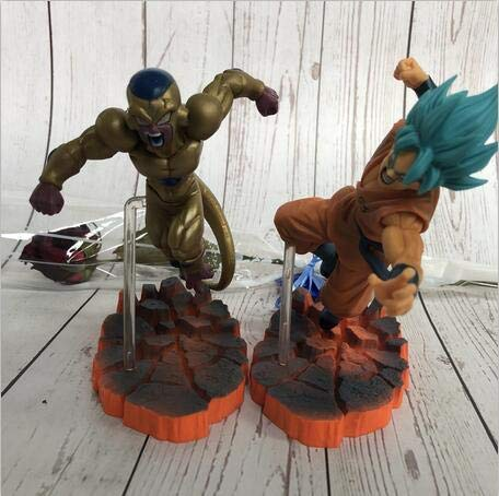 Dragon Ball Z Resurrection - Set 2 Figuras 15cm Gold Freezer & Son Goku Super Saiyan Battle Ver / 2 Figures Set 6""