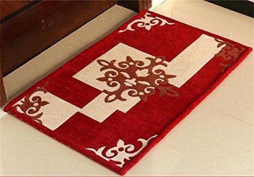 tapis Tapis de hall de style européen/tapis de porte/tapis de sol anti-dérapant d'entrée (Couleur : Rouge)