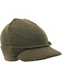 92ce339dd37 Zip Zap Zooom Mens Jeep Beanie Hat Olive Green Thermal US Army Military  Peak Ski Winter