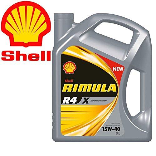 Shell Rimula R4 X 15W40 CI4 E7 DH1 - Olio Motore Diesel per AutoTrazione Pesante - Latta da 5 lit