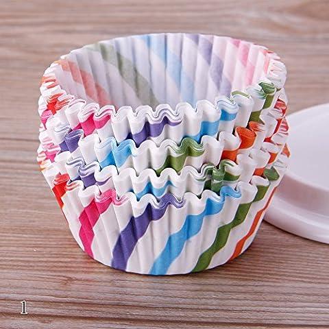 Rungao 100pcs cuisson Tasse/sacs en papier pour cupcakes/cupcake Motif fleur Coque Mariage Wrapper Muffin Cupcake Sacs