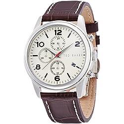 Ted Baker, rund, Leder braun Men's watch #TE1124
