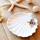 Andensoner Contenitore portasapone portasapone in ceramica stile mediterraneo con capesante in ceramica