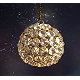 JaipurCrafts Crystal Ball Shaped Tealight Holder With Hanging Chain- For Party/Diwali Decoration