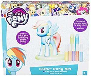 Hasbro My Little Pony MLP4-2075-1-AS Rainbow Dash Glitter Pony Set, alfonbrilla para ratón